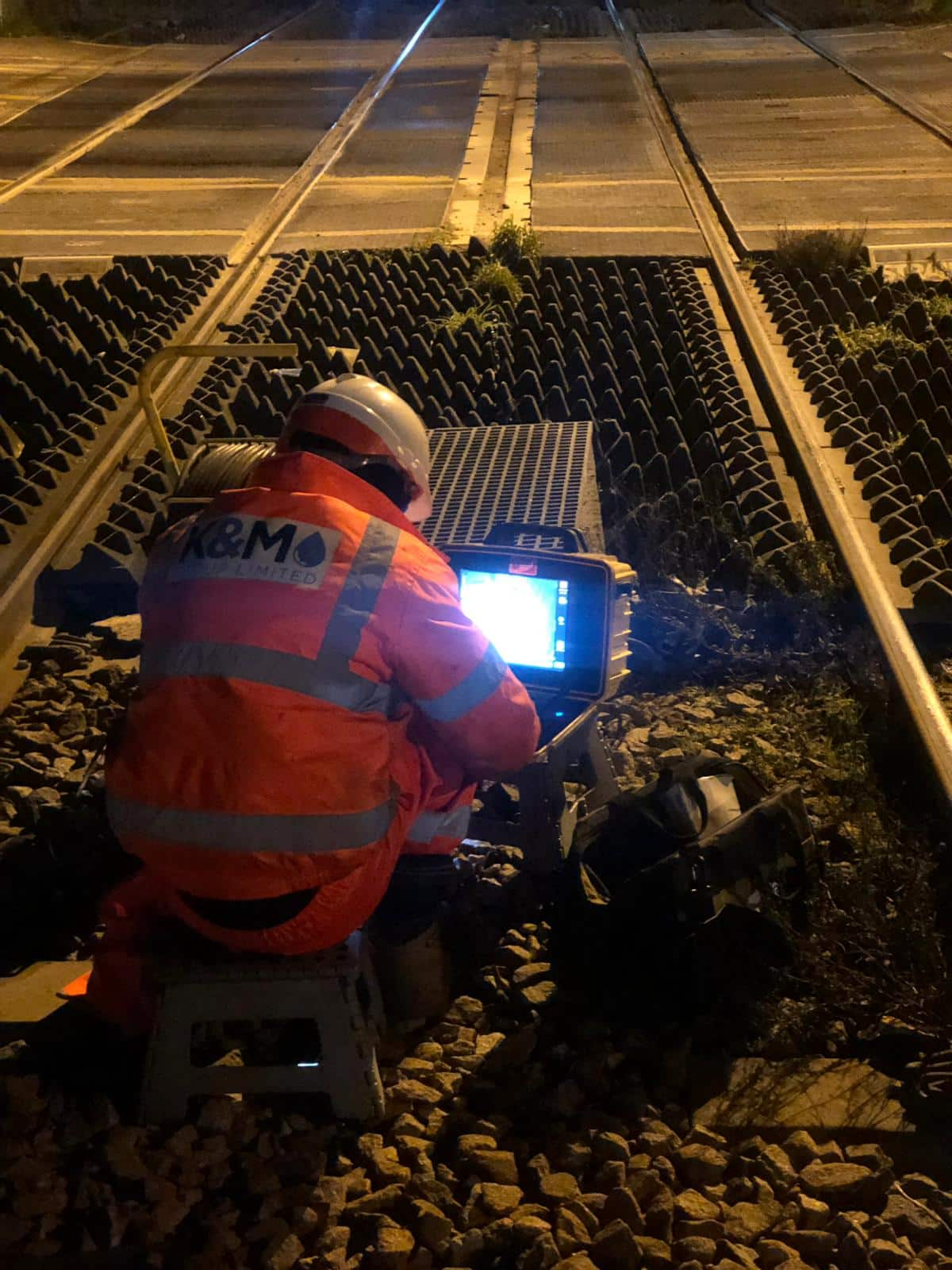 CCTV Pipeline Survey being carried out on the railway.